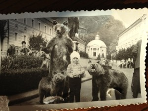 Young Andrei on a family trip to Peles Castle, Sinaia. Photo courtesy: Andrei Guruianu