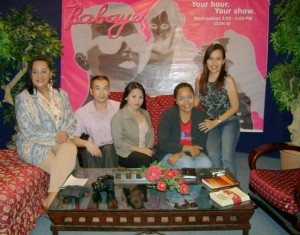 """Cebu City, the Philippines, Montebon and her team on """"Babaye"""" the hit television talk show that she oversaw at the Women's Feature Service, a syndicated news agency."""