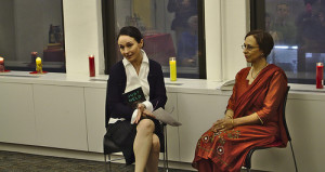 """I'm introducing Elisabet Cairo at the book launch of """"Just to Be Held,"""" in New York City."""