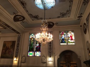 One of two Venitian Chandeliers of Our Lady of Peace